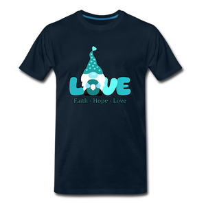 Gnome Faith Hope Love Premium T-Shirt - deep navy