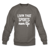 Livin' That Sports Mom Life Crewneck Sweatshirt - asphalt gray