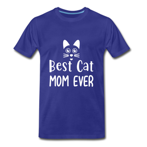 Best Cat Mom Ever 2 Premium T-Shirt - royal blue