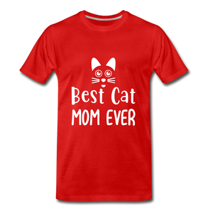 Best Cat Mom Ever 2 Premium T-Shirt - red