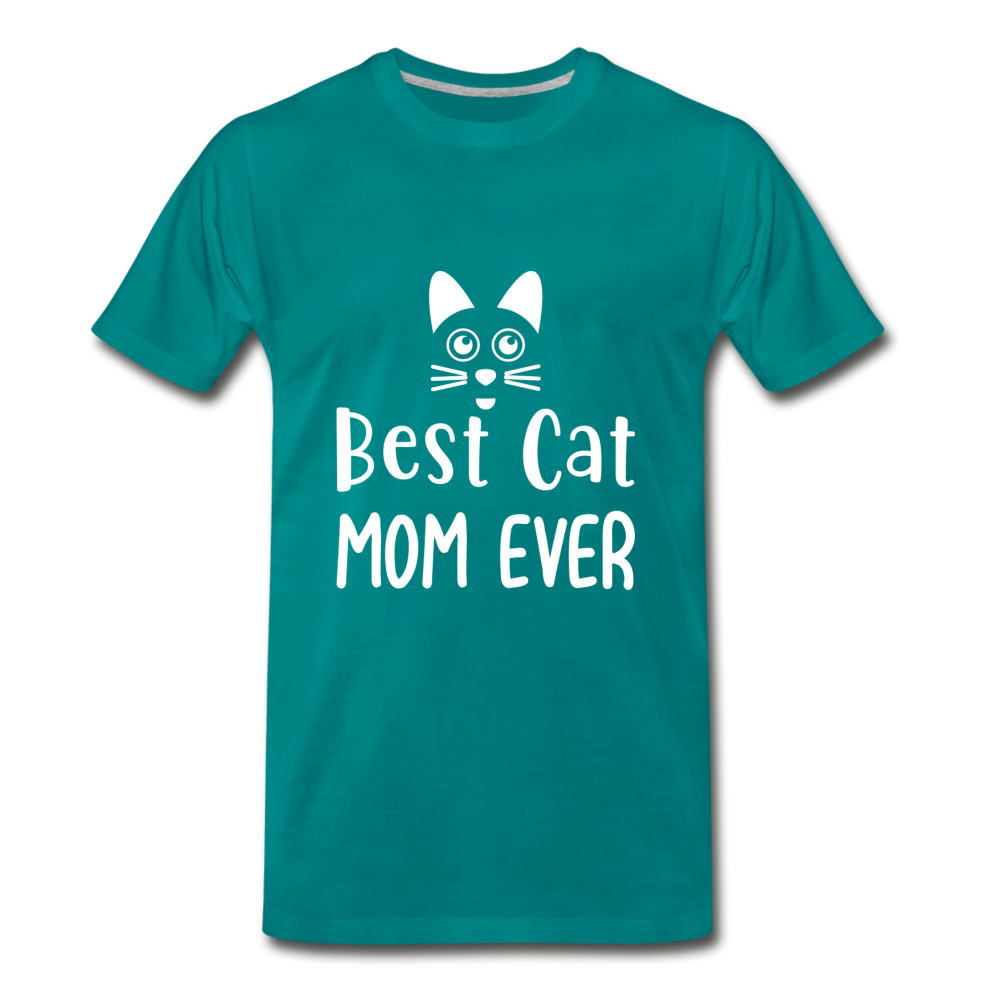 Best Cat Mom Ever 2 Premium T-Shirt - teal