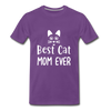 Best Cat Mom Ever 2 Premium T-Shirt - purple