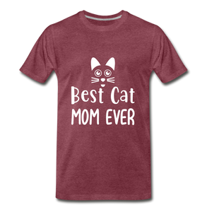 Best Cat Mom Ever 2 Premium T-Shirt - heather burgundy