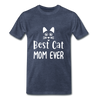Best Cat Mom Ever 2 Premium T-Shirt - heather blue
