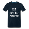Best Cat Mom Ever 2 Premium T-Shirt - deep navy