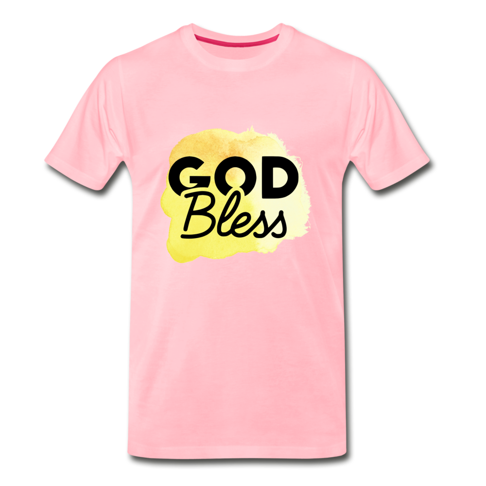 God Bless Watercolor Premium T-Shirt - pink