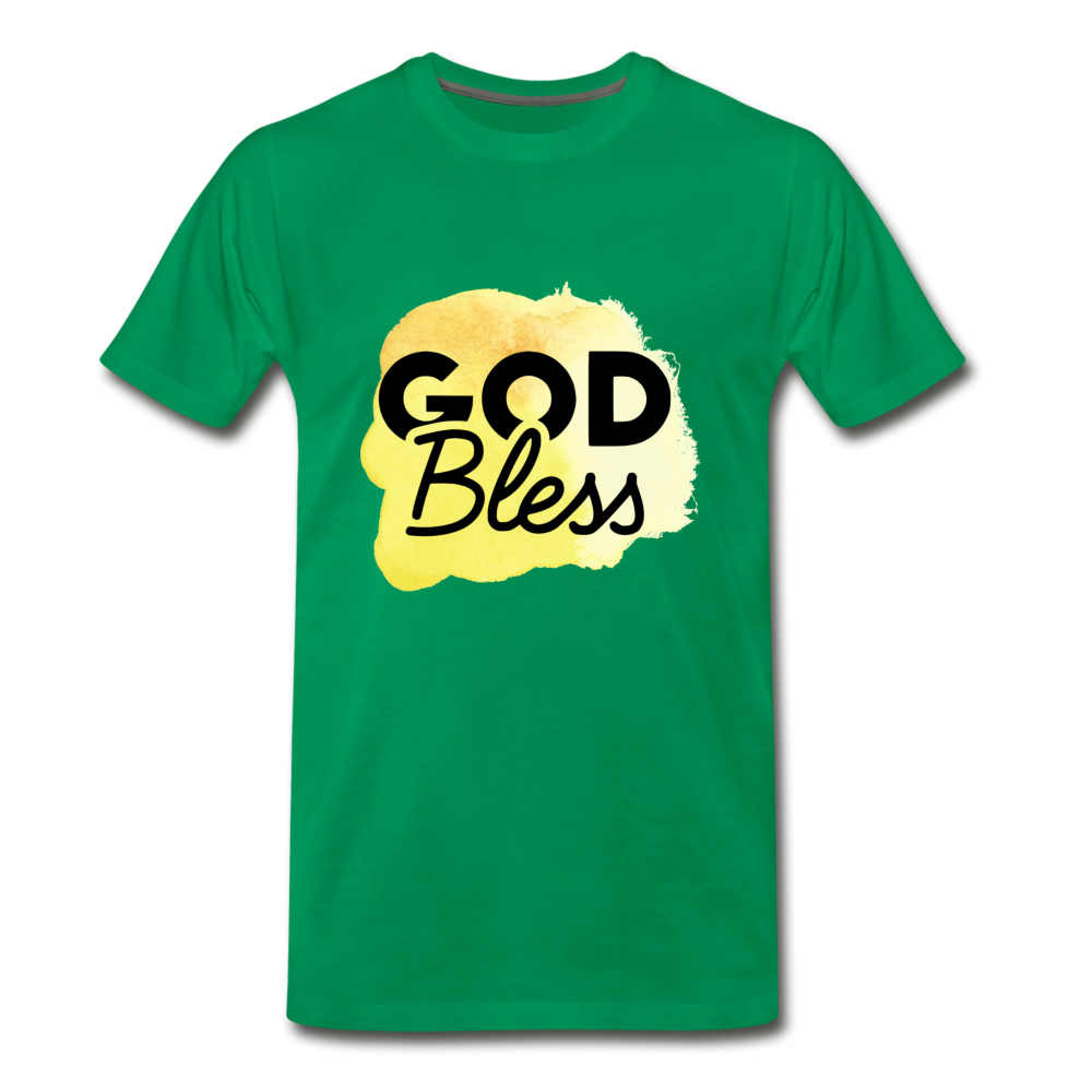 God Bless Watercolor Premium T-Shirt - kelly green