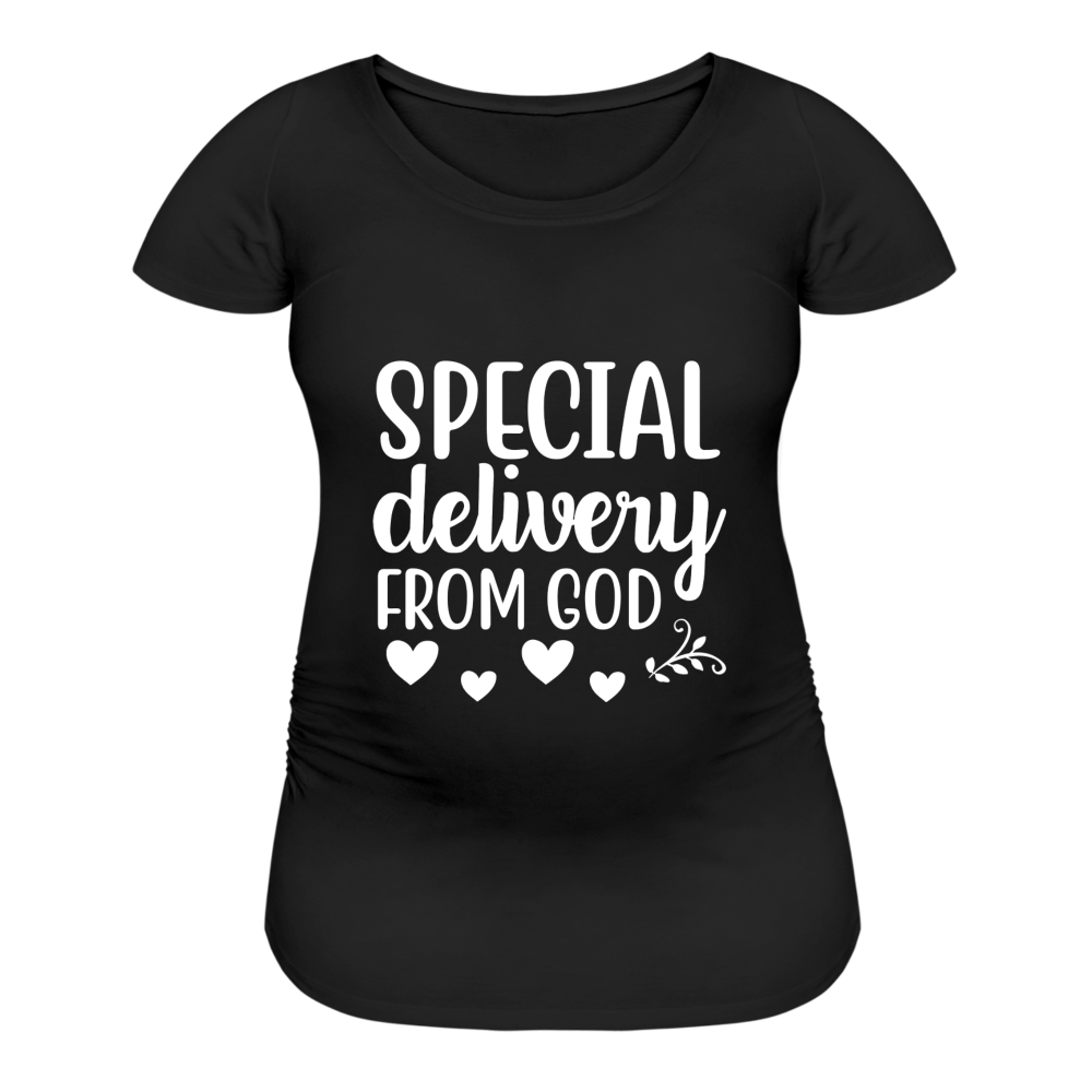 Special Delivery from God Women's Maternity T-Shirt - black