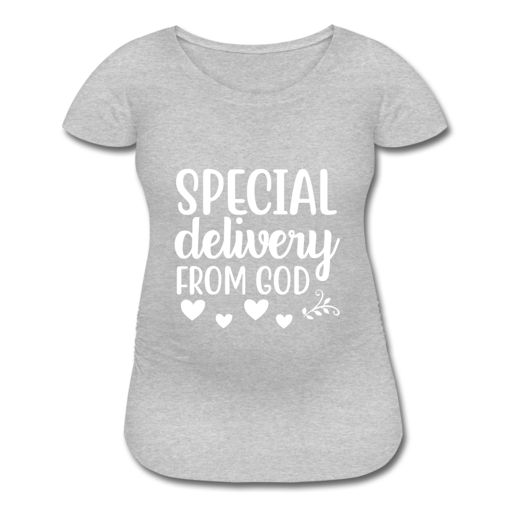 Special Delivery from God Women's Maternity T-Shirt - heather gray