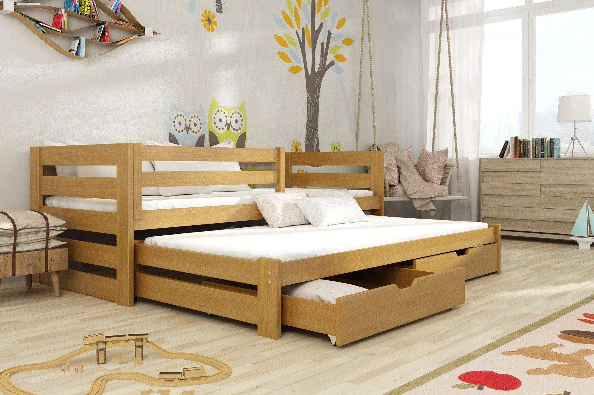 Double Trundle Beds – Arthauss Furniture