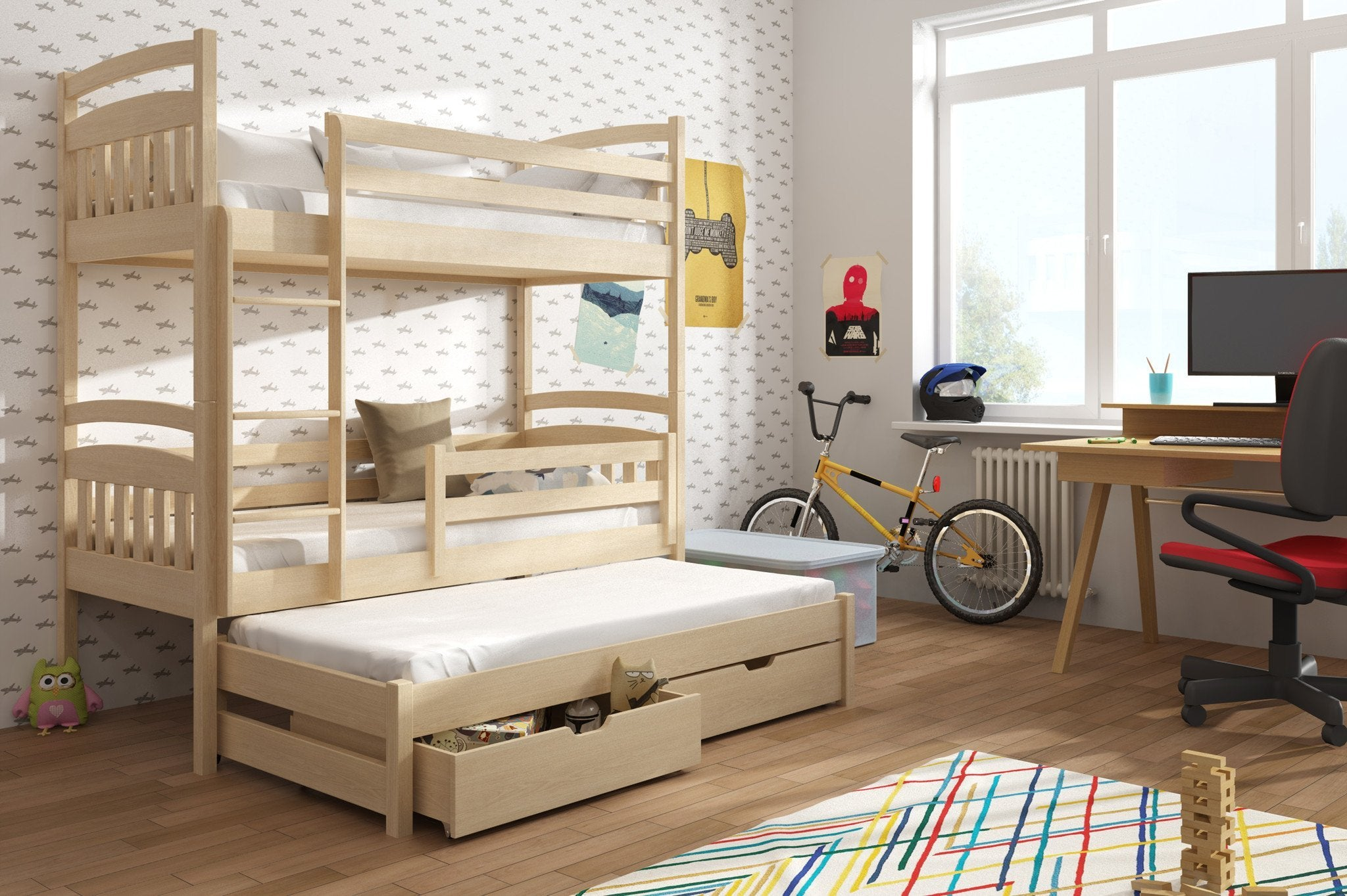 Triple Trundle Beds Arthauss Furniture