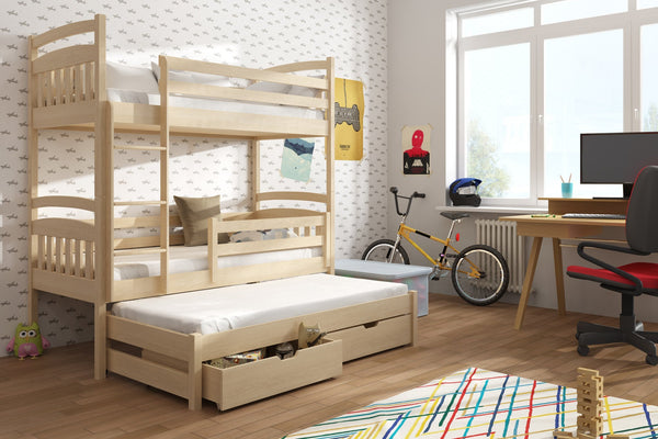 Triple Trundle Beds