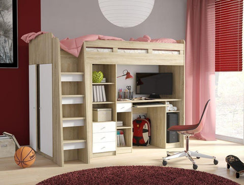 Cabin Bed Unit with Wardrobe and Storage