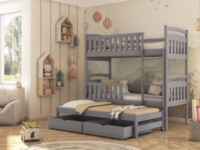 Viki Bunk Bed with Trundle and Storage