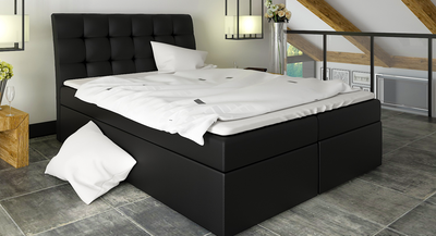 Box-5 Upholstered Bed Frame 3 Sizes with Storage
