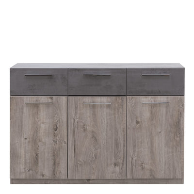 Imola 03 Sideboard Cabinet in Oak Ribbeck and Grey