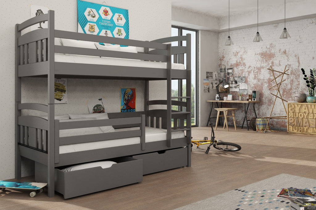Wooden Bunk Bed Hugo with Storage