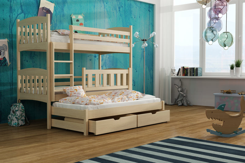 Anka Bunk Bed with Trundle and Storage