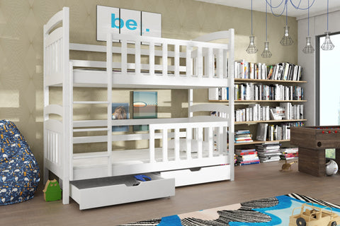 Wooden Bunk Bed Sebus with Storage