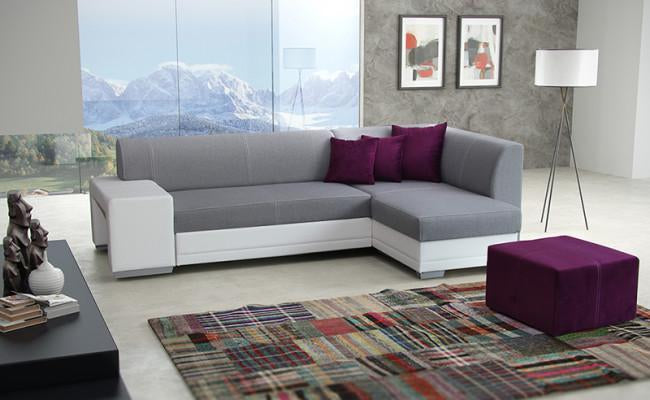 Vera Corner Sofa Bed with Pouf