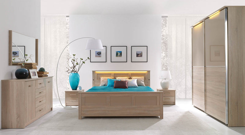 Cremona Bed with Storage and LED lights in 3 Sizes