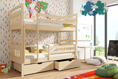Wooden Bunk Bed Gabi with Storage