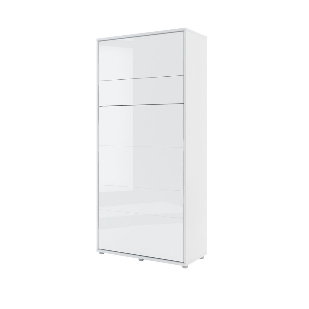 BC-03 Vertical Wall Bed Concept 90cm With Storage Cabinets and LED