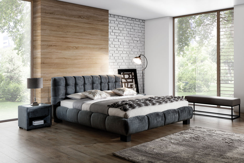 Belly Upholstered Bed Bedroom Arrangement