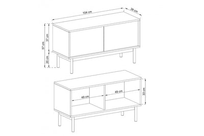 Basic TV Cabinet 104cm