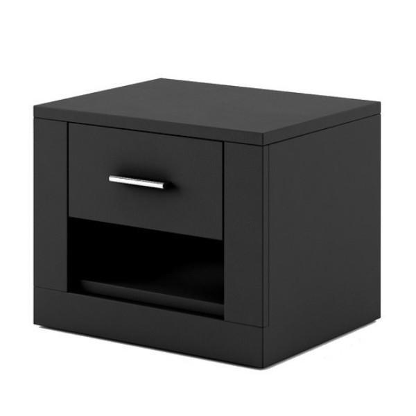 Idea ID-07 Bedside Cabinet in Black
