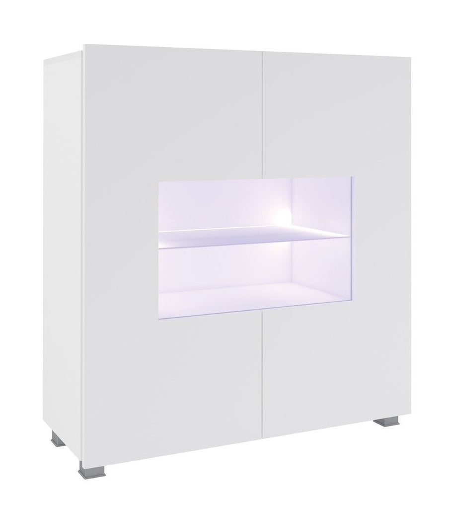 Calabrini Sideboard Cabinet in White Gloss