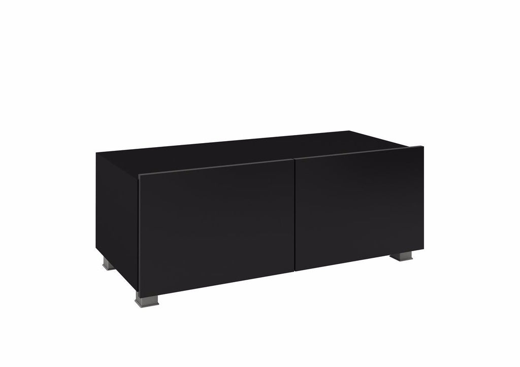 Calabrini TV Cabinet 100cm in Black Gloss