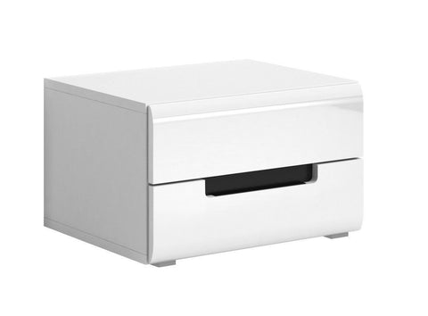 Hektor 22 Bedside Table in White Gloss