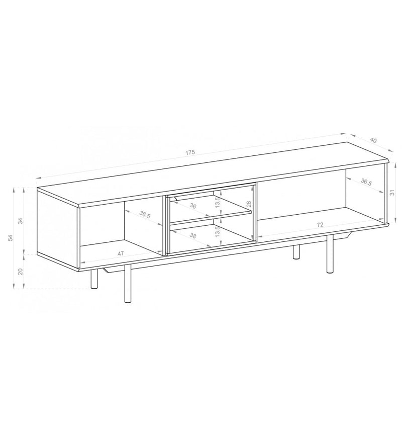 Inox Large TV Cabinet
