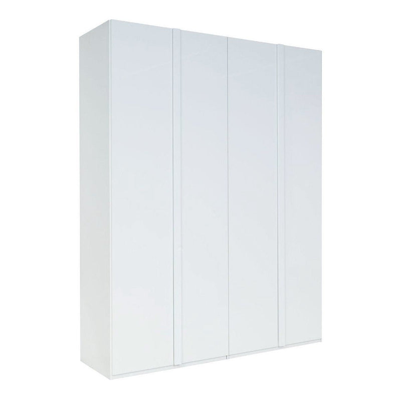 Italia 20 4 Door Wardrobe in White