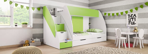 Cabin Bed MARTIN with Drawers in 3 colours