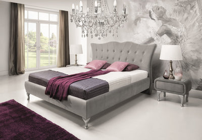 Princessa Upholstered Bed Bedroom Arranagement