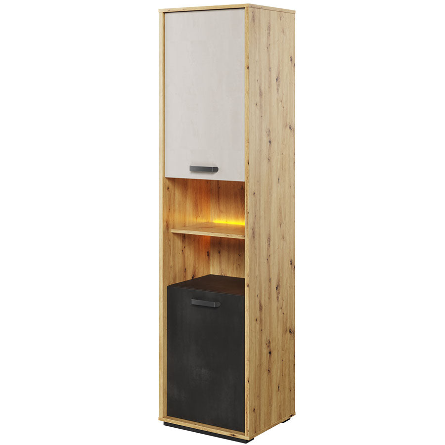 Qubic 04 Tall Storage Cabinet With Led Arthauss Furniture
