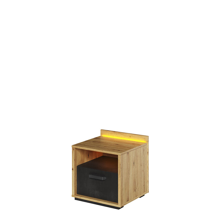 Qubic 10 Bedside Cabinet With LED