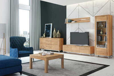 Savona 35 Wall Shelf 155cm in Golden Oak