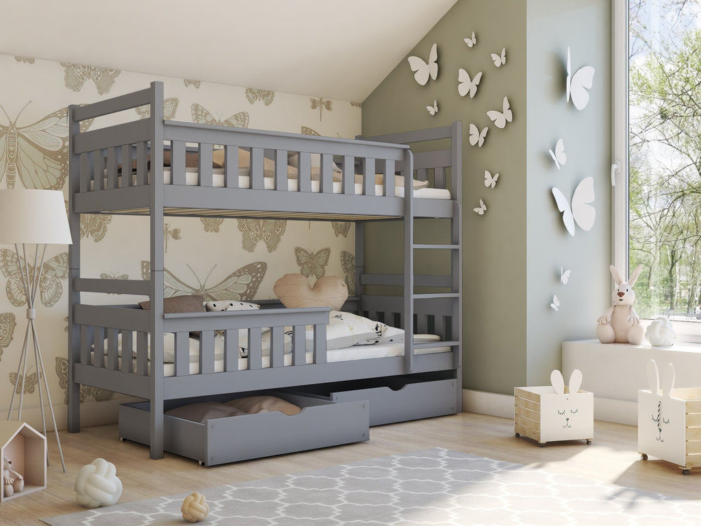Picture of: Wooden Bunk Bed Tezo With Storage Arthauss Furniture