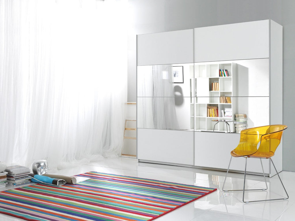 22971656 Sliding Door Wardrobe Beta White 180cm