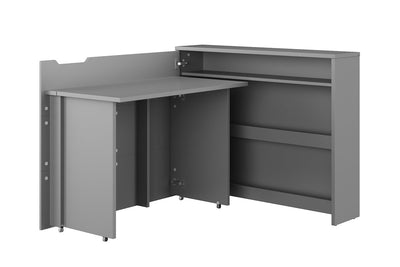 Work Concept Convertible Hidden Desk With Storage