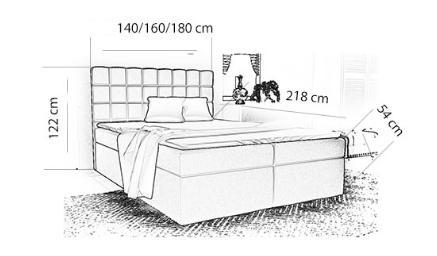 Box-3 Upholstered Bed Frame 3 Sizes with Storage