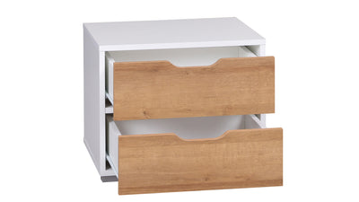 Iwa 11 Bedside Table with Two Drawers