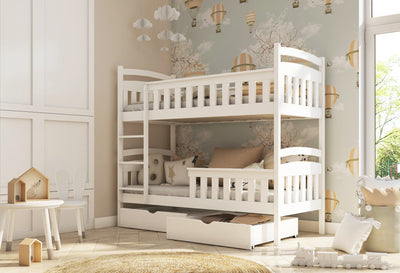 Wooden Bunk Bed Harry with Storage