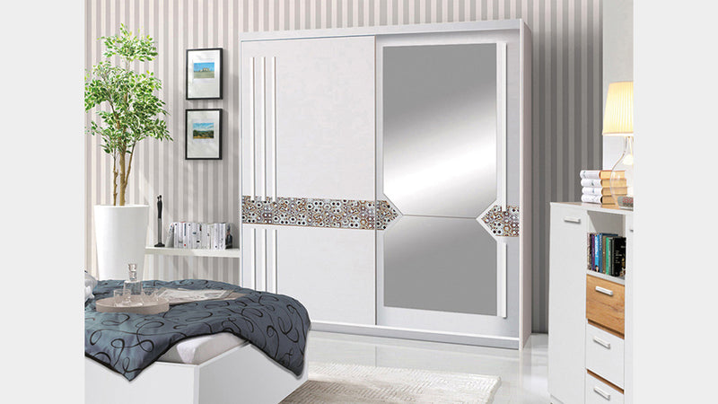 Atena 2 Sliding Door Mirrored Wardrobe 200cm
