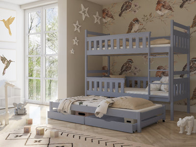 Kors Bunk Bed with Trundle and Storage