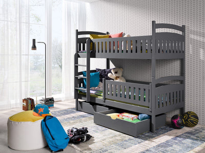 Wooden Bunk Bed Ignas with Storage