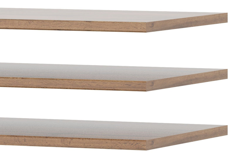 Livorno 81 Set of 3 Additional Shelves in Wotan Oak for Livorno 72 Wardrobe